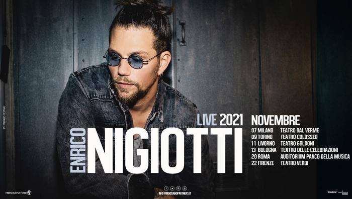 Enrico Nigiotti - locandina tour novembre 2021