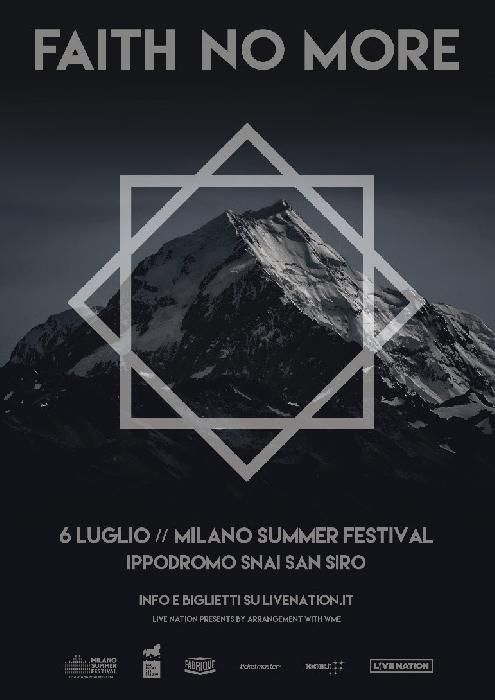 Faith No More il 6 Luglio 2020 a Milano
