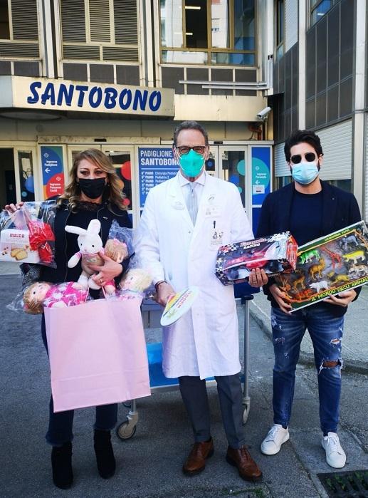 """Giochi e dolciumi per i bambini del Santobono Pusilipon dall'associazione """"Tra Cielo e Mare"""""""
