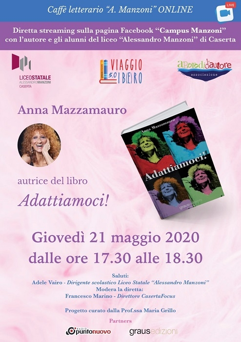 L'attrice Anna Mazzamauro ospite di Viaggio Lib(e)ro al liceo Manzoni di Caserta