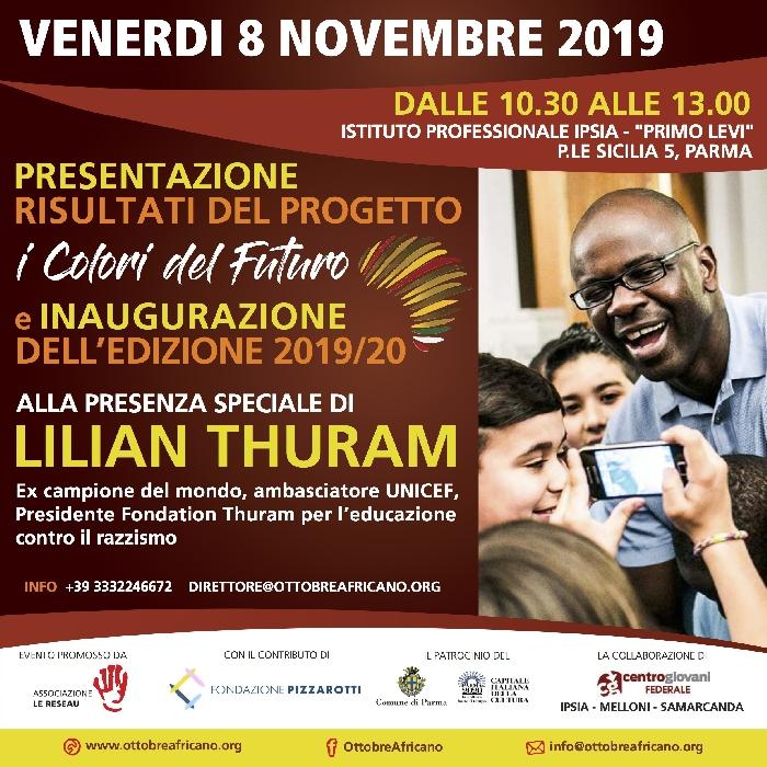 LILIAN THURAM TORNA A PARMA E PARLA AI GIOVANI DELLE SCUOLE