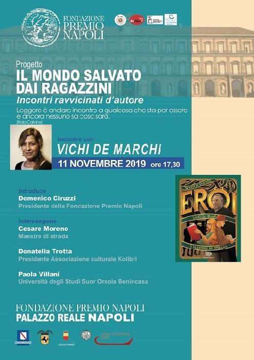 La Fondazione Premio Napoli ospita il secondo incontro d'autore del progetto «Il mondo salvato dai ragazzini».