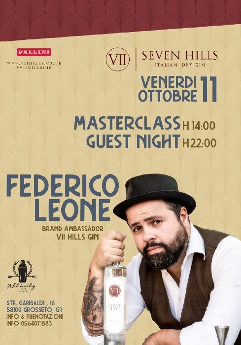 Masterclass e Guest sul Gin italiano con Federico Leone