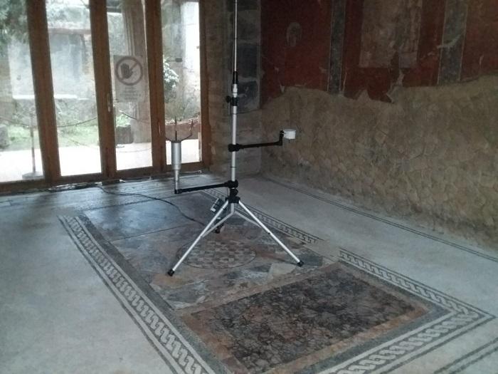 Parco Archeologico di Ercolano, alla Casa del Bicentenario il sistema di monitoraggio ambientale e la stazione metereologica pronti a rilevare l'impatto della riapertura al pubblico