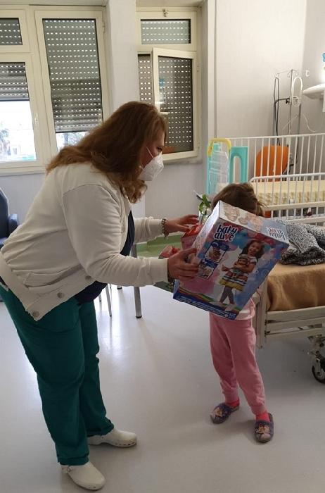 Questa mattina all'ospedale di Caserta: la BEFANA SOLIDALE del Club 4X4 Adventure