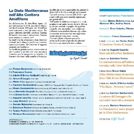 --locandina Convegni Dieta Mediterranea nell'alta costa Amalfitana 2