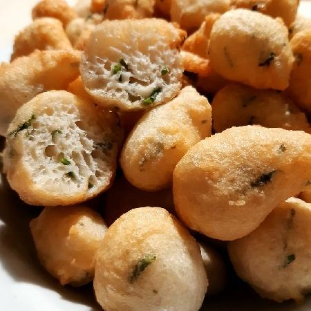 -Frittelle con salicornia o asparago di mare