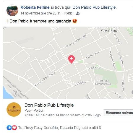 -Roberta Felline garantisce per il Don Pablo Pub Lifestyle