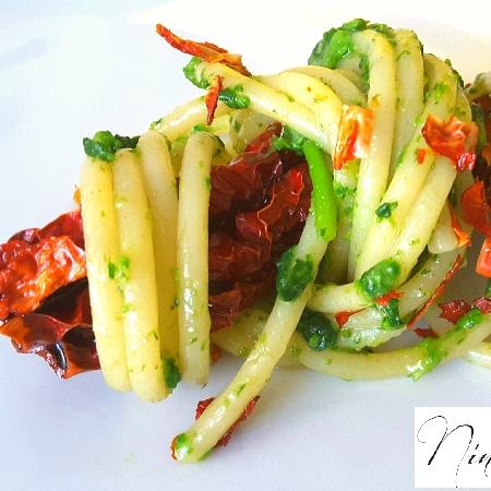 -spaghettone con cimedirape e crusco