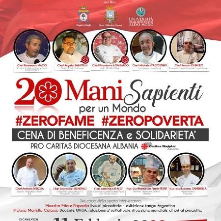 20 Mani sapienti per un mondo #zerofame #zeropoverta