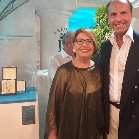 Console Famiglietti con coniuge e presidente Poste Farina per Dali  Capri Night
