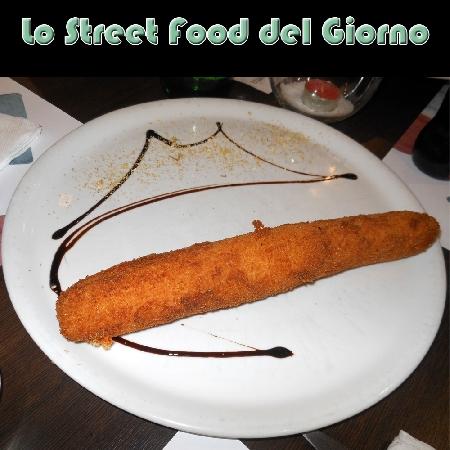 Crocchettone preparato dal Maestro Pizzaiolo Aniello Falanga della Pizzeria Haccademia di Terzigno (NA)