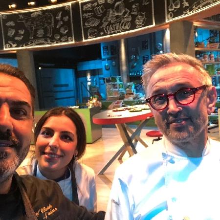 Daniele ed Emanuela Unione con lo chef Barbieri