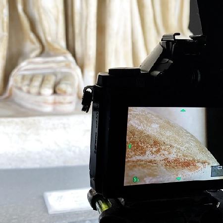 Digitalizzazione delle statue della Collezione Farnese, il MANN con Flyover Zone, ipotesi di tracce di colore su Ercole e Minerva