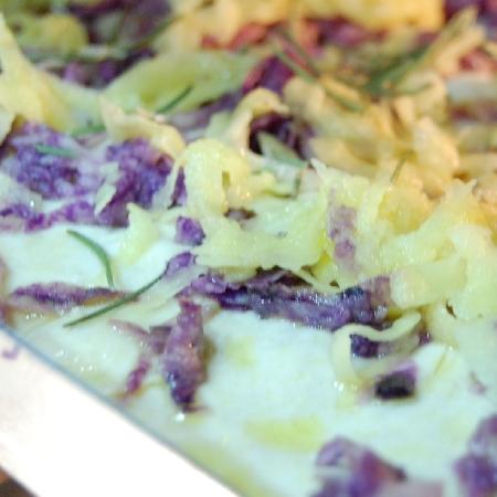 Focaccia con le due patate