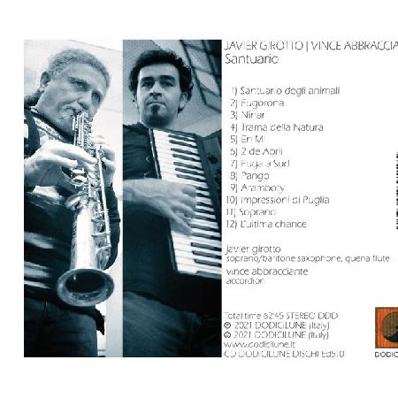 Javier Girotto e Vince Abbracciante - Santuario (Copertina Retro)