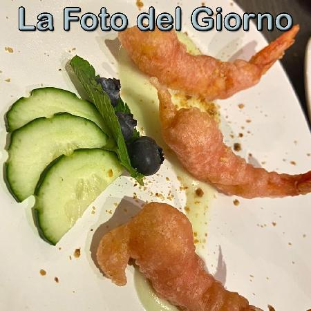 La Foto del Giorno del 2 Settembre 2021 - Gamberi in tempura con maionese di cetrioli