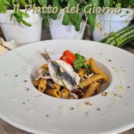Penne rigate alla curcuma con sarde del Mediterraneo dello Chef Stefano Marinucci