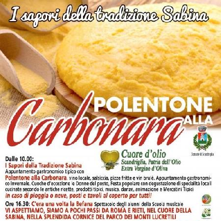 Polentone ala carbonara