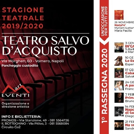 """Presso il Teatro Salvo D'Acquisto si è tenuta la presentazione della Rassegna """"Un'occasione per tutti"""" per la Stagione Teatrale 2019/2020, curata   dall'Associazione Emme Art Eventi di Enzo Manco."""