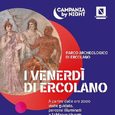 Ripartono I Venerdì di Ercolano, percorsi serali guidati al Parco Archeologico di Ercolano, incentrati sulla figura di Ercole.