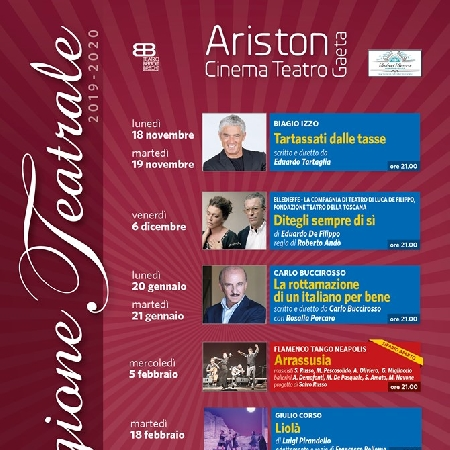 Stagione Teatrale 2019/2020 - Teatro Ariston Gaeta
