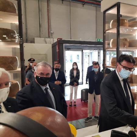 Visita del Ministro Giorgetti agli stand di Cibus 2021